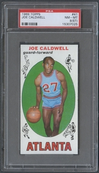 1969/70 Topps Basketball #41 Joe Caldwell PSA 8 (NM-MT) (ST) *7025