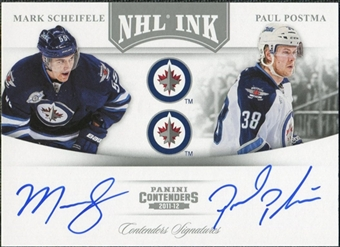 2011/12 Panini Contenders NHL Ink Duals #11 Mark Scheifele/Paul Postma Autograph