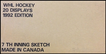 1991/92 7th Inning Sketch WHL Tomorrows Stars Today Hockey Hobby 20 Box Case