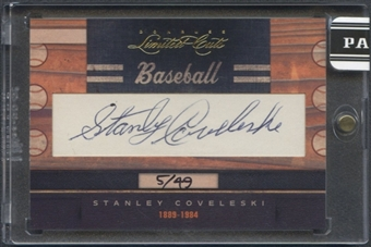 2011 Donruss Limited Cuts #302 Stanley Coveleski Auto #05/49