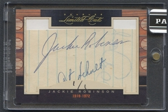 2011 Donruss Limited Cuts #178 Jackie Robinson Cut Auto #1/1