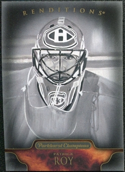 2011/12 Upper Deck Parkhurst Champions #151 Patrick Roy Renditions Black & White
