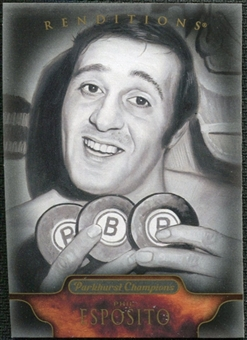 2011/12 Upper Deck Parkhurst Champions #154 Phil Esposito Renditions Black & White