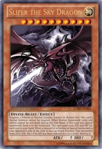 Yu-Gi-Oh Promo Single Slifer the Sky Dragon Ultra Rare JUMP