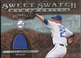 2009 Upper Deck Sweet Spot Swatches #ZG Zack Greinke