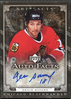 2006/07 Upper Deck Artifacts Autofacts #AFDS Denis Savard Autograph