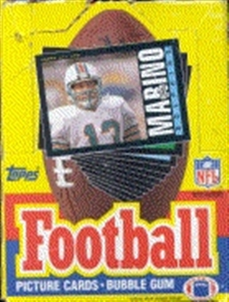 1985 Topps Football Wax Box