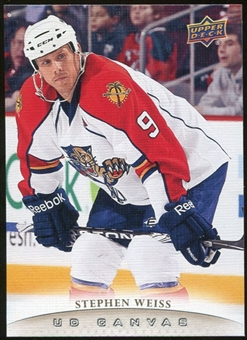 2011/12 Upper Deck Canvas #C38 Stephen Weiss