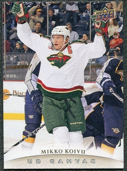 2011/12 Upper Deck Canvas #C42 Mikko Koivu
