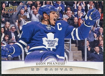 2011/12 Upper Deck Canvas #C78 Dion Phaneuf