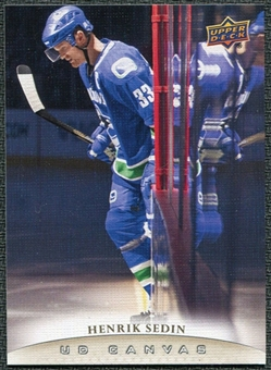 2011/12 Upper Deck Canvas #C82 Henrik Sedin