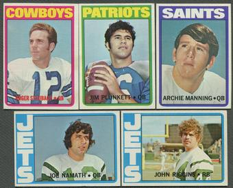 1972 Topps Football Complete Series 1 & 2 Set (No High Series) (EX-MT)