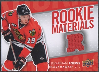 2007/08 Upper Deck #RMJT Jonathan Toews Rookie Materials Jersey