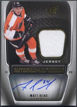 2011/12 SPx #192 Matt Read Rookie Jersey Auto #173/799