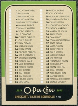 2011/12 Upper Deck O-Pee-Chee Retro #496 Checklist
