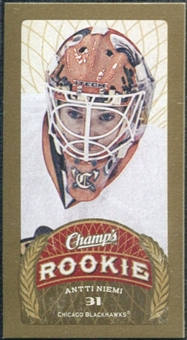 2009/10 Upper Deck Champ's Mini Red Backs #105 Antti Niemi RC