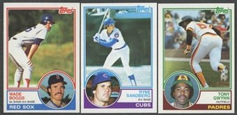 1983 Topps Baseball Near Complete Set (NM-MT)
