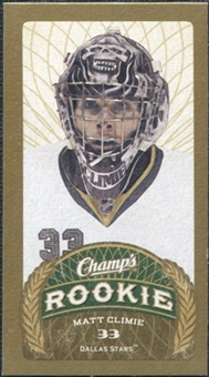 2009/10 Upper Deck Champ's Mini Red Backs #152 Matt Climie RC