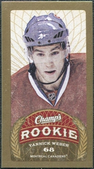 2009/10 Upper Deck Champ's Mini Blue Backs #191 Yannick Weber RC