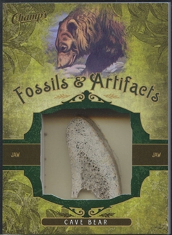 2011/12 Parkhurst Champions Fossils & Artifacts #FACBJ Cave Bear Jaw