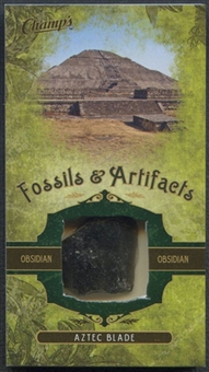 2011/12 Parkhurst Champions Fossils & Artifacts #FAAB Aztec Blade Obsidian