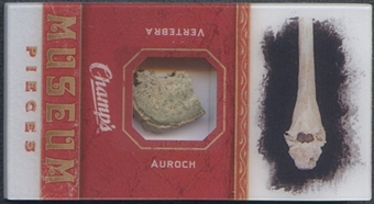 2009/10 Champ's Museum Pieces Mini #MPMGA Auroch Vertebra