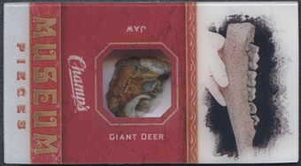 2009/10 Champ's Museum Pieces Mini #MPMGD Giant Deer Jaw