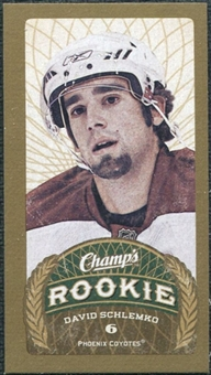 2009/10 Upper Deck Champ's Mini Green Backs #117 David Schlemko RC