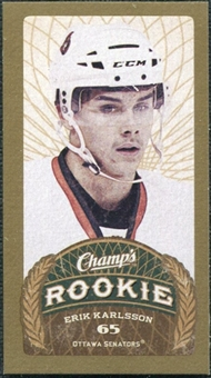 2009/10 Upper Deck Champ's Mini Green Backs #123 Erik Karlsson RC