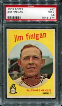 1959 Topps Baseball #47 Jim Finigan PSA 7.5 (NM+) *1874