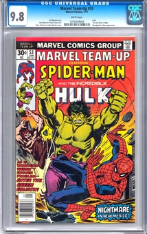 Marvel Team-Up #53 CGC 9.8 (W) *1055459004*