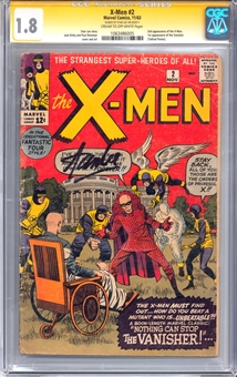 X-Men #2 CGC Signature Series 1.8 (CR-OW) (Stan Lee Signature) *1063486005*