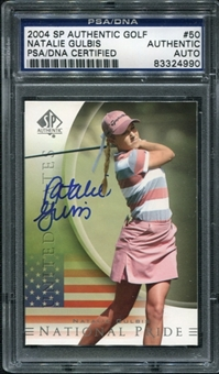 2004 Upper Deck SP Authentic #50 Natalie Gulbis RC Autograph PSA/DNA Slabbed