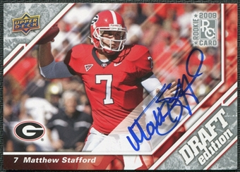 2009 Upper Deck Draft Edition Autographs Silver #3 Matthew Stafford Autograph RC
