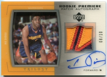 2005/06 Upper Deck Trilogy Rookie Premiere Patches Autographs #ID Ike Diogu Autograph 8/10