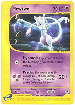 Pokemon Expedition Single Mewtwo 56/165 Reverse Holo - NEAR MINT (NM)