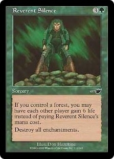 Magic the Gathering Nemesis Single Reverent Silence Foil