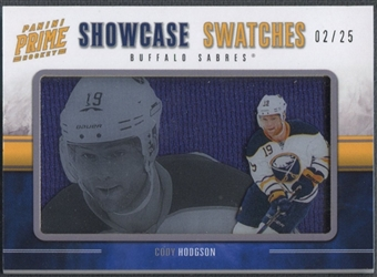 2011/12 Panini Prime #26 Cody Hodgson Showcase Swatches Jersey #02/25