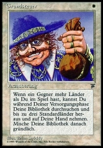 Magic the Gathering Renaissance Single Land Tax - German - MODERATE PLAY (MP)