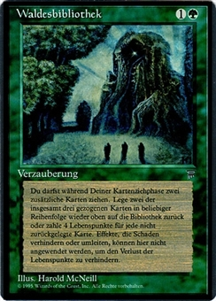Magic the Gathering Legends Single Sylvan Library - German - SLIGHT PLAY (SP)