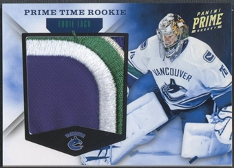 2011/12 Panini Prime #48 Eddie Lack Prime Time Rookie Patch #08/10