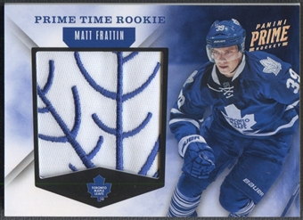 2011/12 Panini Prime #30 Matt Frattin Prime Time Rookie Patch #09/10