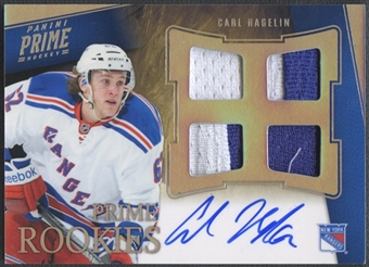 2011/12 Panini Prime #138 Carl Hagelin Prime Rookie Holosilver Patch Auto #34/50