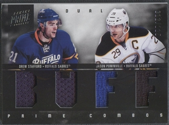 2011/12 Panini Prime #34 Drew Stafford & Jason Pominville Combos Jersey #012/225