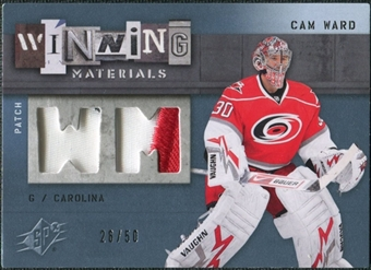 2009/10 Upper Deck SPx Winning Materials Spectrum Patches #WMCW Cam Ward /50