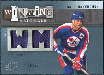 2009/10 Upper Deck SPx Winning Materials Spectrum Patches #WMDH Dale Hawerchuk /50