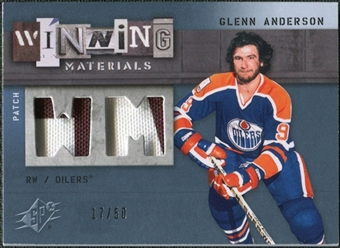 2009/10 Upper Deck SPx Winning Materials Spectrum Patches #WMGA Glenn Anderson /50