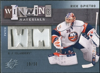 2009/10 Upper Deck SPx Winning Materials Spectrum Patches #WMRD Rick DiPietro /50