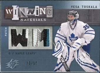 2009/10 Upper Deck SPx Winning Materials Spectrum Patches #WMVT Vesa Toskala /50