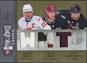 2009/10 Upper Deck SPx Winning Trios #WTKAM Jarome Iginla Shane Doan Scott Niedermayer 4/50
